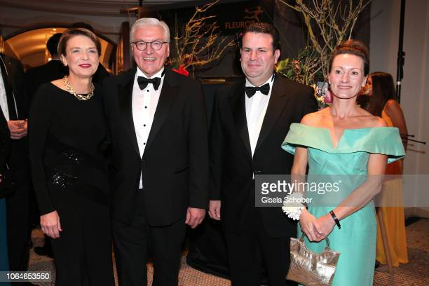 Federal President of Germany Frank Walter Steinmeier and his partner Elke Buedenbender Hubertus Heil and his wife Solveig Orlowski during the 67th...