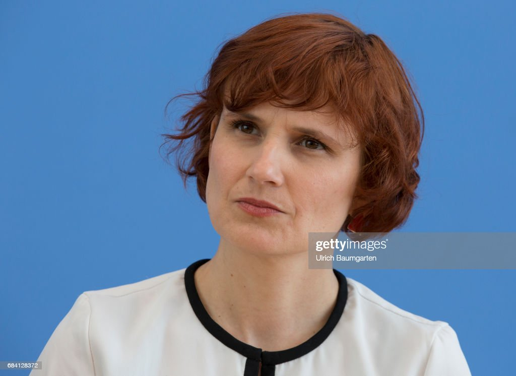 Federal Press Conference in Berlin - Katja Kipping, party chairwoman of the Left Party (Die Linke).