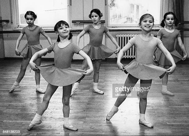 Federal Republic of Germany BadenWuerttemberg Stuttgart Girls of the John Cranko Ballet School 1978 Photographer Rudolf Dietrich Vintage property of...