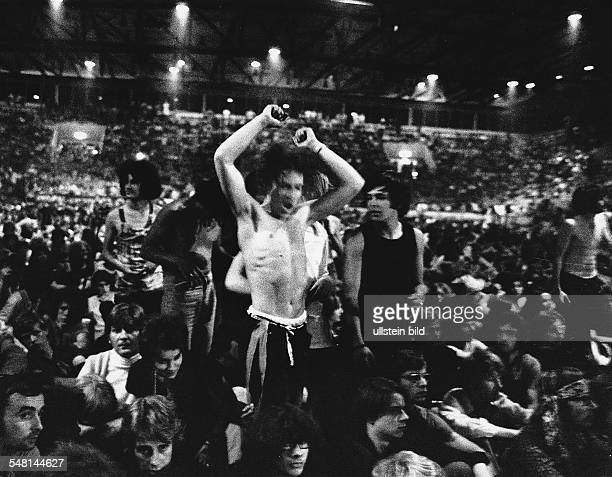 Federal Republic of Germany Bavaria Munich Fans listening to the music at the Euro Pop 70 festival 1970 Photographer Rudolf Dietrich Vintage property...