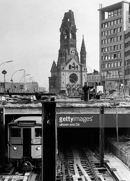 Federal Republic of Germany Berlin Charlottenburg Subway station Zoologischer Garten construction site and open trackbed under the Breitscheidplatz...