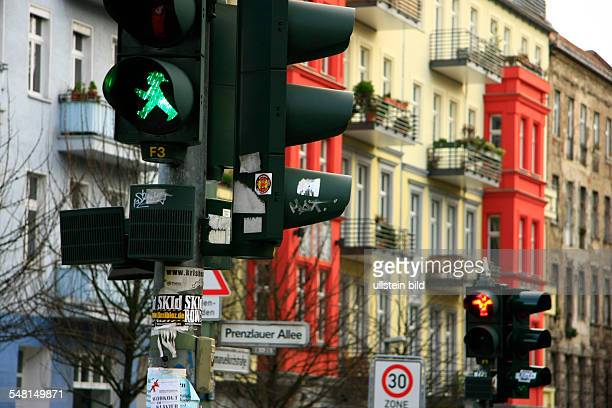Federal Republic of Germany Berlin Prenzlauer Berg traffic light with