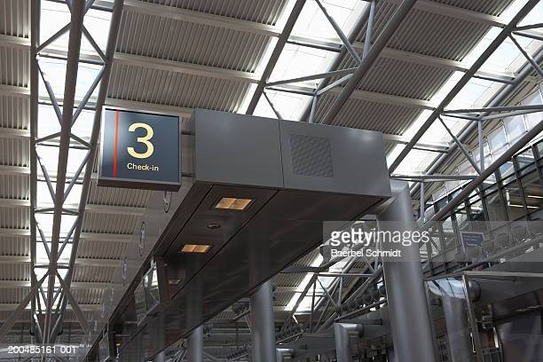 Federal Republic of Germany, Hamburg, Hamburg Airport, check in sign