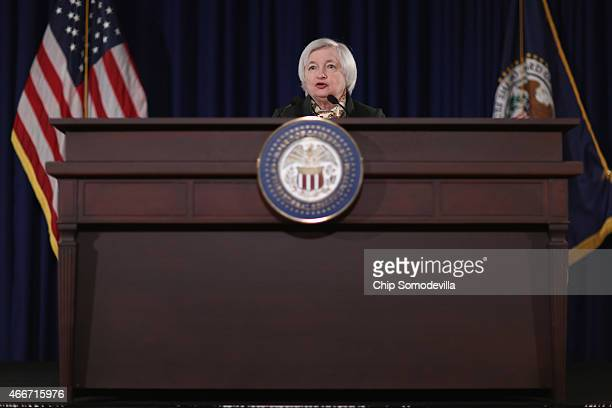 Federal Reserve Bank Chair Janet Yellen arrives for a news conference following a meeting of the Federal Open Market Committee at the Fed...