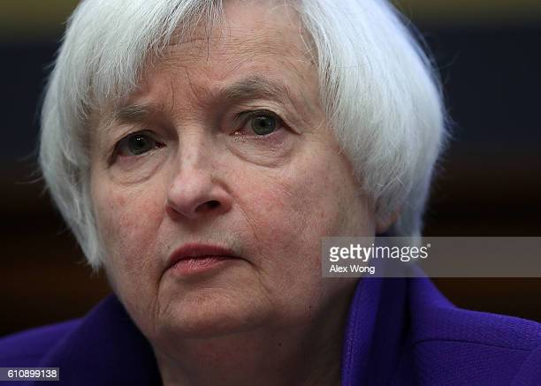 Federal Reserve Board Chair Janet Yellen testifies during a hearing before the House Financial Services Committee September 28 2016 on Capitol Hill...