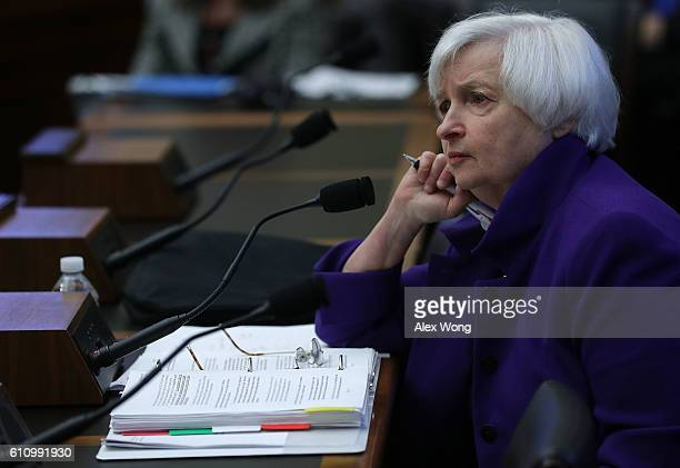 Federal Reserve Board Chair Janet Yellen testifies during a hearing before the House Financial Services Committee September 28, 2016 on Capitol Hill...