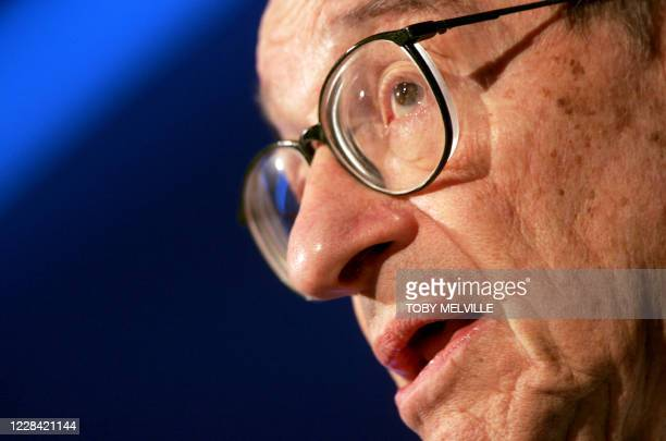 Federal Reserve Board Chairman Alan Greenspan talks at the Advancing Enterprise Conference & G7 Finance Ministers and Central Bank Governers' Meeting...