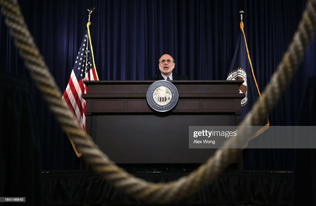 Ben Bernanke Holds Press Conference After Fed Meeting Concludes