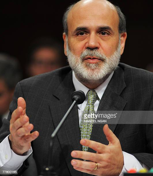 Federal Reserve Board Chairman Ben Bernanke testifies before the Joint Economic Committee on the economic outlook 08 November 2007 in the Hart Senate...