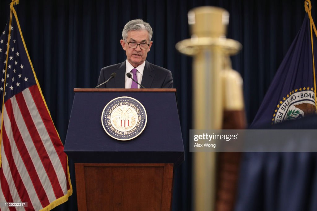 Fed Chairman Jerome Powell Holds News Conference After Interest Rate Announcement : News Photo