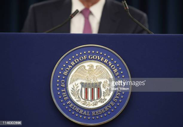 Federal Reserve Board Chairman Jerome Powell speaks during a news conference on May 1, 2019 in Washington, DC. Powell said the Fed will not raise...