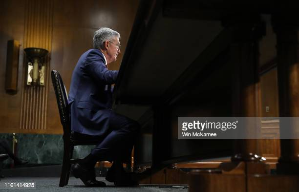 Federal Reserve Board Chairman Jerome Powell testifies before the Senate Banking, Housing and Urban Affairs Committee July 11, 2019 in Washington,...