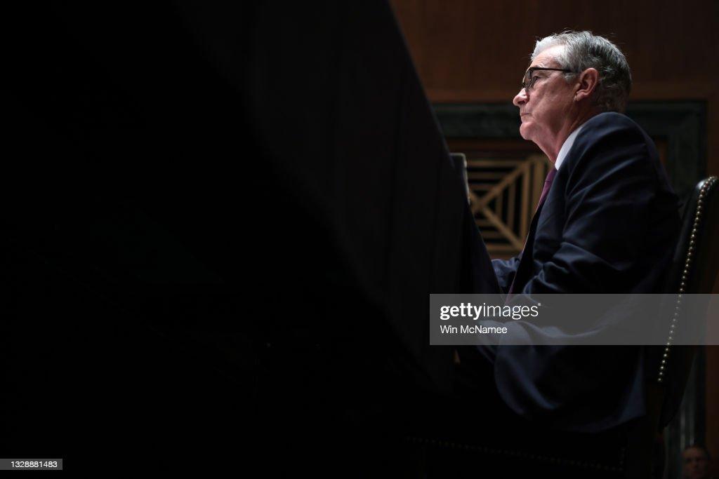 Federal Reserve Chairman Powell Testifies Before Senate Committee : News Photo