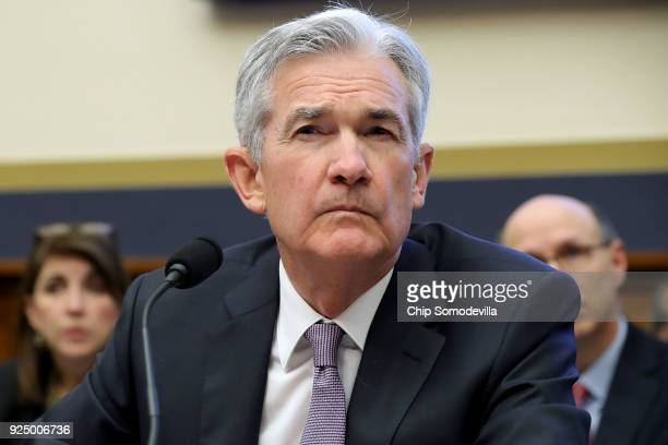 Federal Reserve Board Chairman Jerome Powell testifies before the House Financial Services Committee in the Rayburn House Office Building on Capitol...