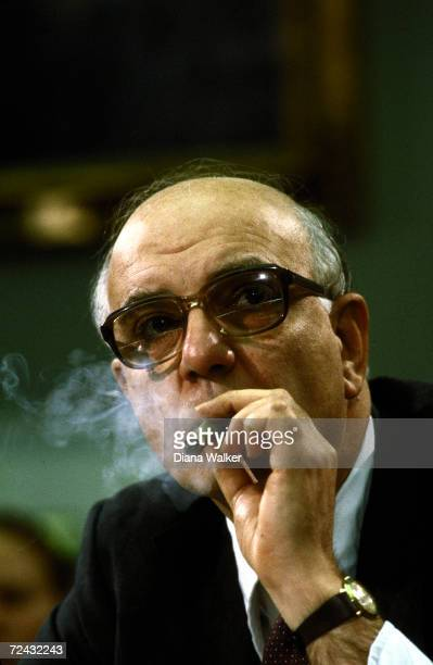 Federal Reserve Board Chairman Paul Volcker testifying before House Joint Econ Committee