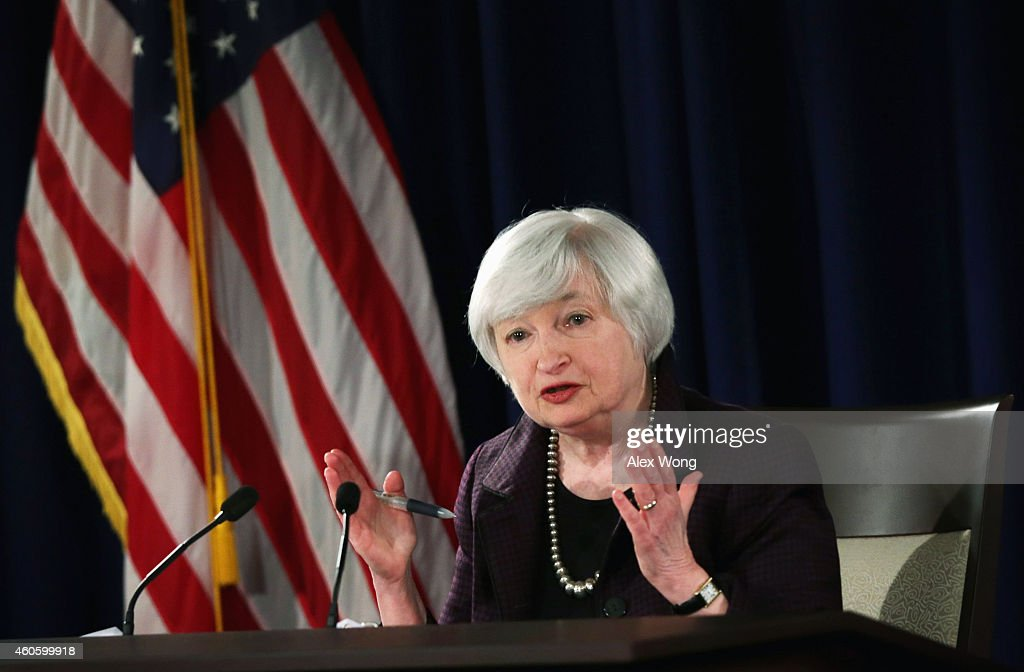 Federal Reserve Chair Janet Yellen Holds News Conference : News Photo