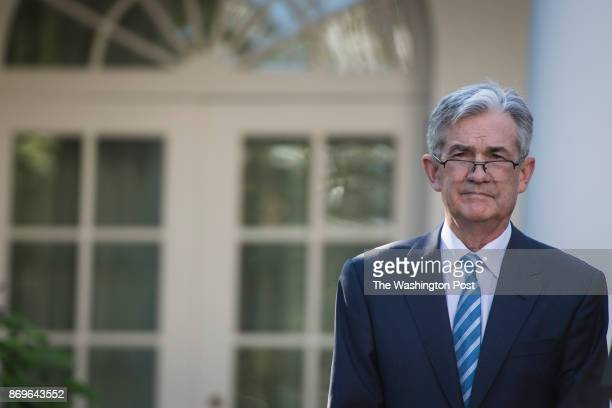 Federal Reserve board member Jerome Powell listens as President Donald Trump announces him as his nominee for the next chair of the Federal Reserve...