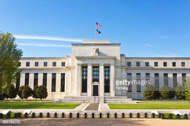 federal reserve building in washington dc - central bank stock pictures, royalty-free photos & images
