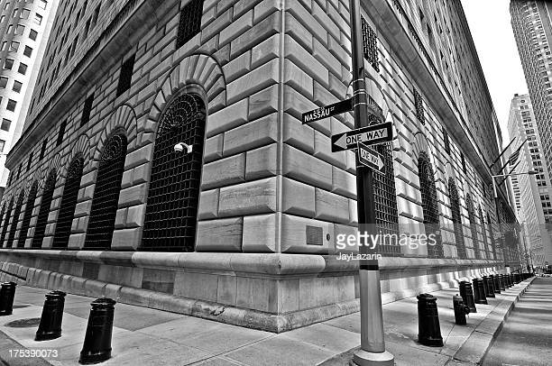 Federal Reserve Building, dem Finanzviertel von Lower Manhattan, New York City