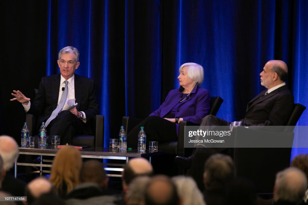 Federal Reserve Chair Jerome Powell and former Chairs of the