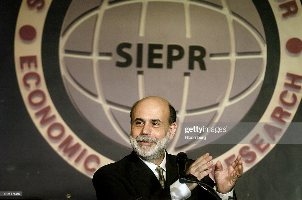 Federal Reserve Chairman Ben Bernanke delivers a keynote
