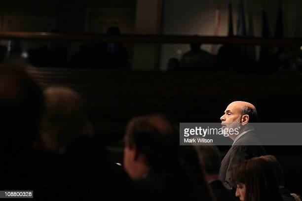 Federal Reserve Chairman Ben Bernanke speaks at the National Press Club on February 3 2011 in Washington DC Chairman Bernanke said that more jobs...