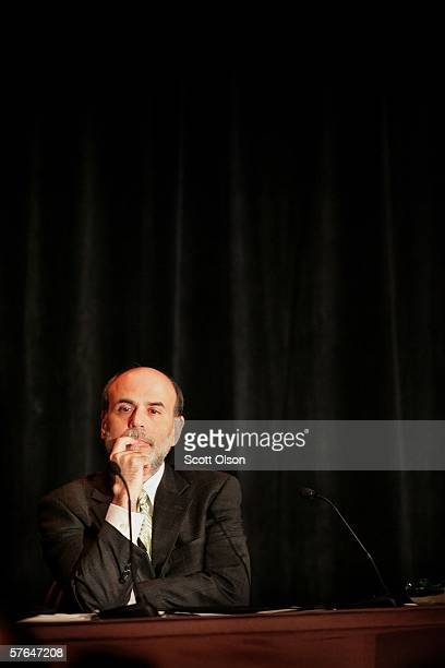 Federal Reserve Chairman, Ben Bernanke, takes questions following an address to the 42nd Annual Conference on Bank Structure and Competition May 18,...