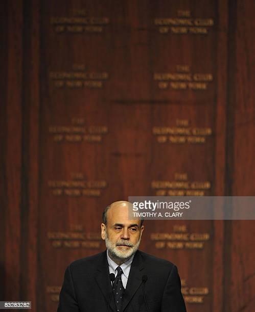 Federal Reserve Chairman Ben Bernanke Speaks At New York