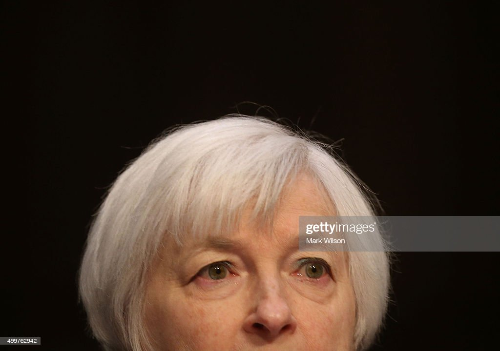 Yellen Testifies At Joint Economic Committee Hearing On Economic Outlook : News Photo