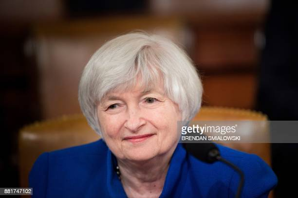 Federal Reserve Chairman Janet Yellen waits for a hearing of the Joint Economic Committee on Capitol Hill, November 29 in Washington, DC.