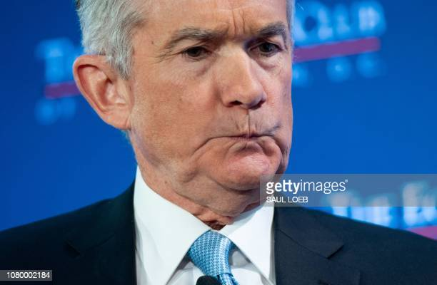 US Federal Reserve Chairman Jerome Powell speaks during a discussion at the Economic Club of Washington on January 10 in Washington DC