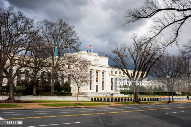 federal reserve headquarters in washington. - federal reserve stock pictures, royalty-free photos & images