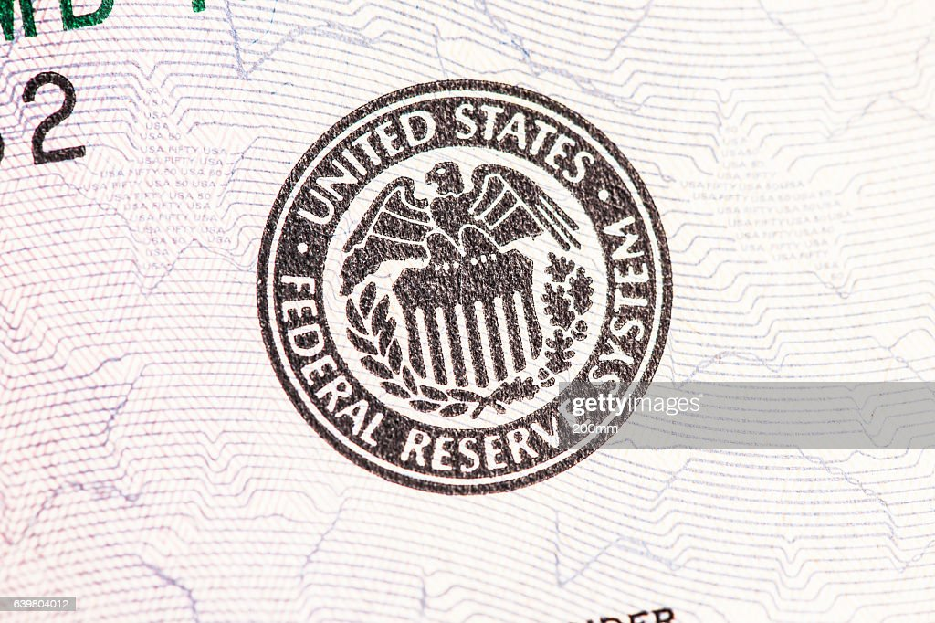 Federal Reserve Seal : Stock Photo