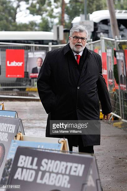 Federal Senator Kim Carr arrives at the Australian Labor Party 2016 Federal Campaign Launch at the Joan Sutherland Performing Arts Centre on June 19...