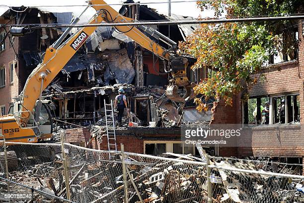 Federal state and county investigators continue their 'brickbybrick' inspection of the seciton of the Flower Branch Apartments that exploded and...
