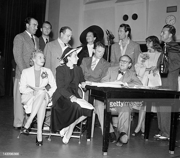 NBC RADIO Federal Theatre Project Special Broadcast Pictured Walter Abel Ralph Bellamy Hugh Herbert Gale Sondergaard Henry Fonda Joan Blondell Dick...
