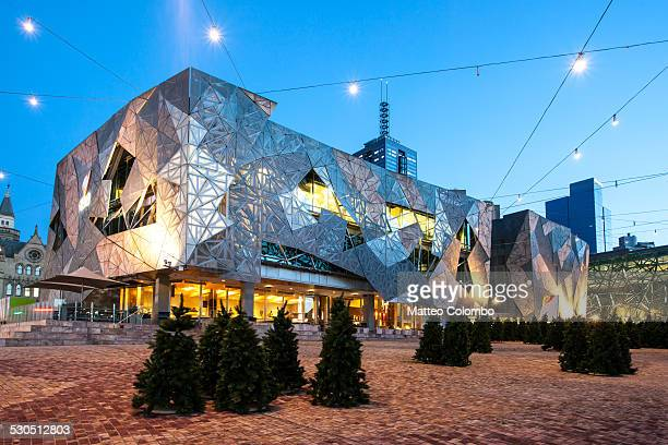 Federation square at dawn, Melbourne, Australia