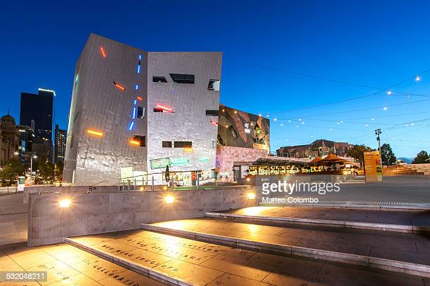 Federation square at night, Melbourne