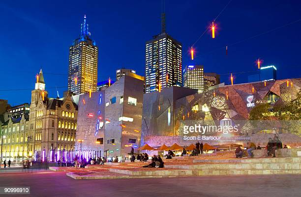 Federation Square, financial district buildings