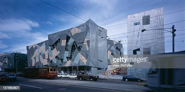 Federation Square Melbourne Australia Architect Lab Architecture Studio Bates Smart Federation Square View From Across Flinders Street With Traffic
