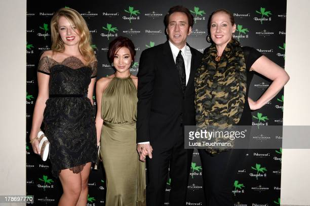 Federica Amati Alice Kim actor Nicolas Cage attend 'Bungalow 8 Pop Up at the Venice Film Festival' during the 70th Venice International Film Festival...
