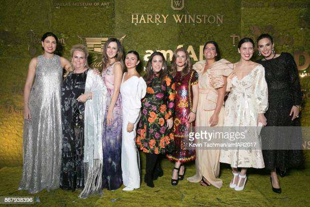 Federica Boido Nasiba HartlandMAckie Mary Katrantzou Rosie Assoulin Emilia Wickstead Elizabeth Chambers and guests at TWO X TWO for AIDS and Art 2017...