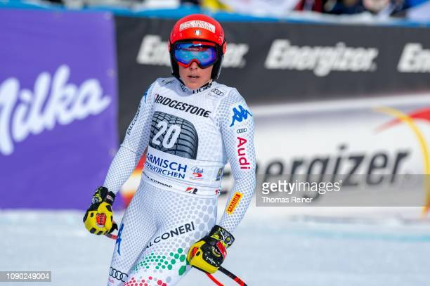 Federica Brignone of Italy competes at Audi FIS Alpine Ski World Cup Women's Downhill on January 27 2019 in GARMISCHPARTENKIRCHEN Germany