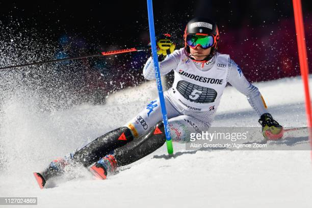 Federica Brignone of Italy competes during the Audi FIS Alpine Ski World Cup Women's Alpine Combined on February 24 2019 in Crans Montana Switzerland