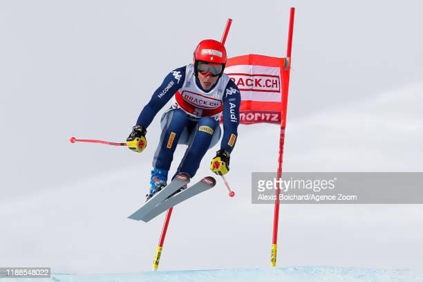 Federica Brignone of Italy competes during the Audi FIS Alpine Ski World Cup Women's Super G on December 14, 2019 in St Moritz Switzerland.