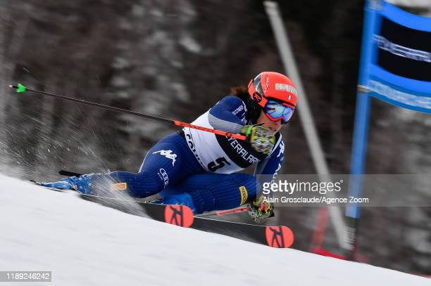 Federica Brignone of Italy competes during the Audi FIS Alpine Ski World Cup Women's Giant Slalom on December 17, 2019 in Courchevel, France.