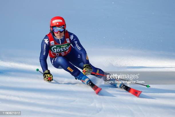 Federica Brignone of Italy competes during the Audi FIS Alpine Ski World Cup Women's Giant Slalom on December 28, 2019 in Lienz Austria.