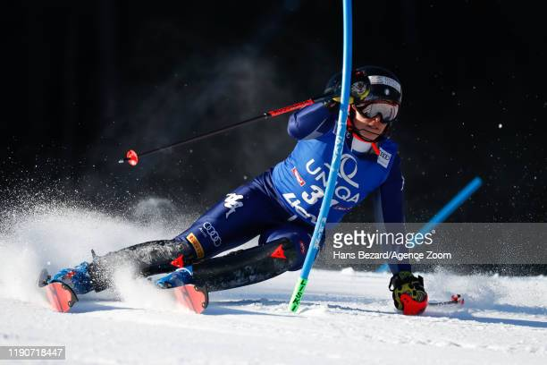 Federica Brignone of Italy competes during the Audi FIS Alpine Ski World Cup Women's Slalom on December 29, 2019 in Lienz Austria.