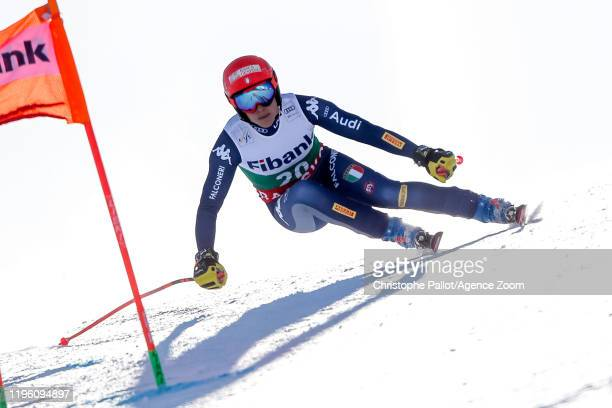Federica Brignone of Italy competes during the Audi FIS Alpine Ski World Cup Women's Downhill on January 25, 2020 in Bansko Bulgaria.
