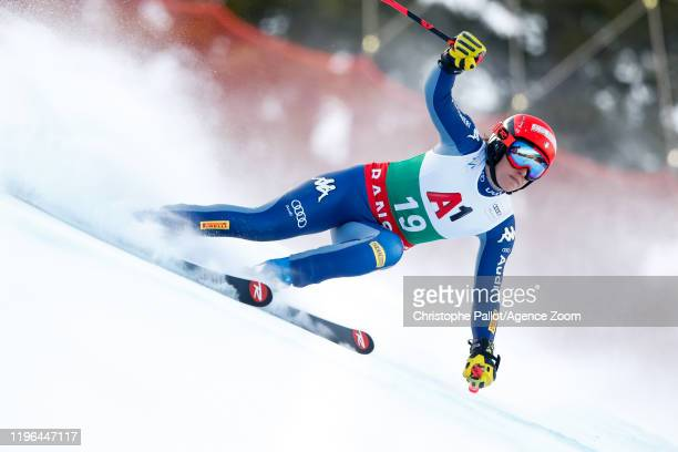 Federica Brignone of Italy competes during the Audi FIS Alpine Ski World Cup Women's Super G on January 26 2020 in Bansko Bulgaria